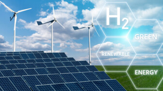 Solar panels and wind power plus water can generate hydroen